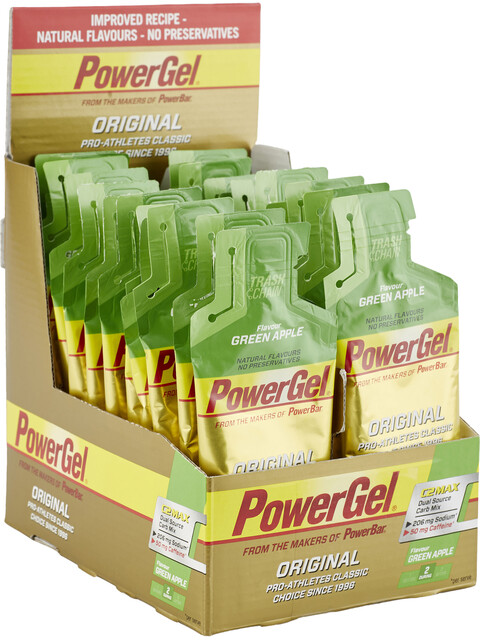 PowerBar Powergel Original Sports Nutrition Green Apple with caffeine 24 x 41g